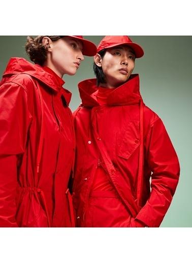 Lacoste Unisex Fashion Show Kapüonlu Mont BH9232.240 Kırmızı